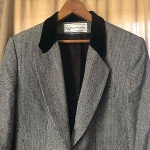 Vintage Plaid Long Sleeve Blazer